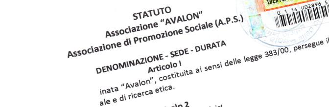 Statuto Associazione Avalon APS