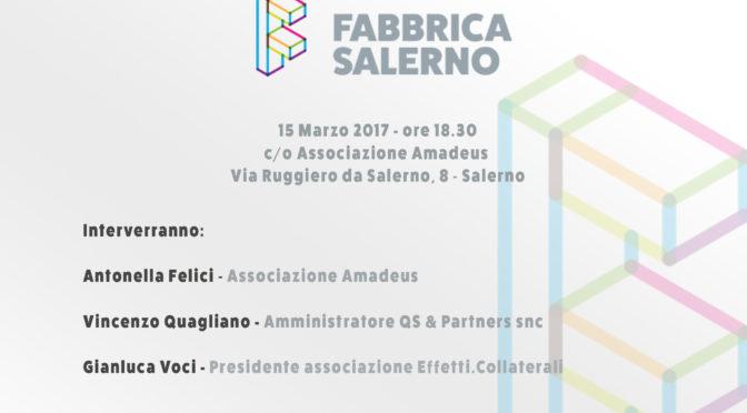 """Concorso di idee """"Fabbrica Salerno"""", l'incontro dedicato ai giovani"""